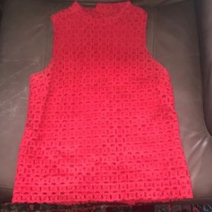 Red Textured J Crew Top in Great Condition!